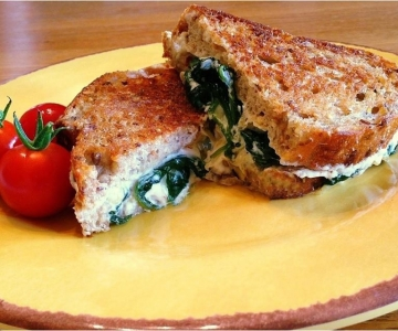 Gourmet Spinach and Artichoke Grilled Cheese Sandwich